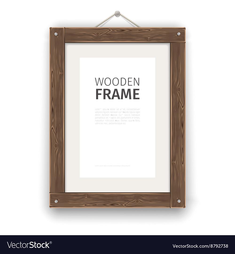 Old Wooden Rectangle Frame Light