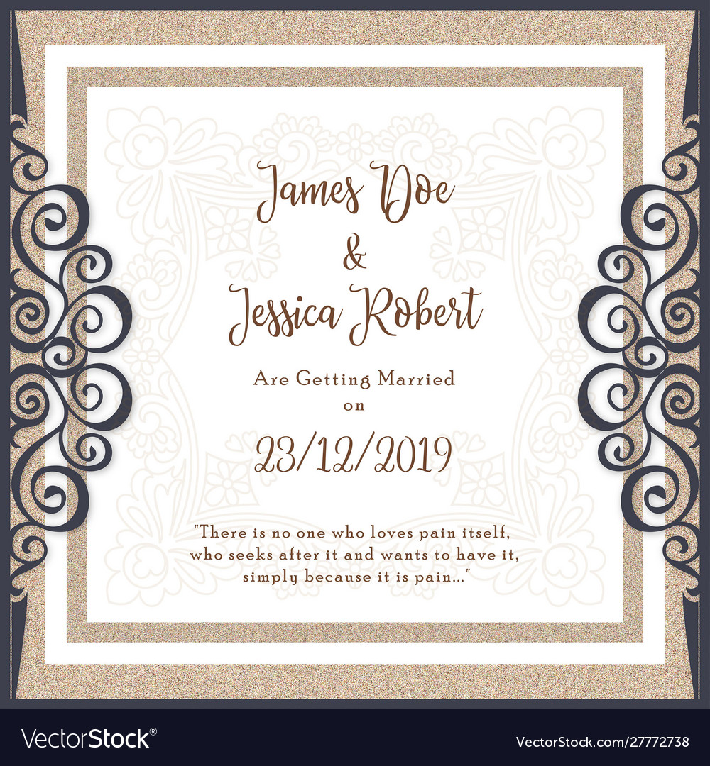 Royal Wedding Invitation Card Template