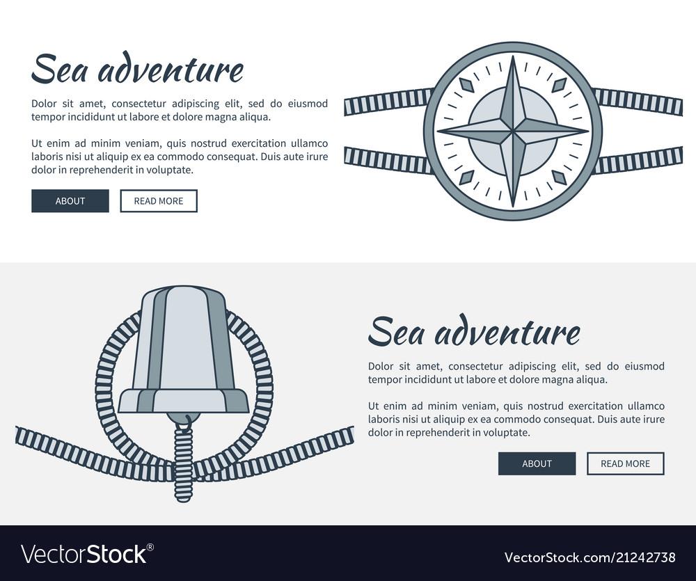 Sea adventure web pages set