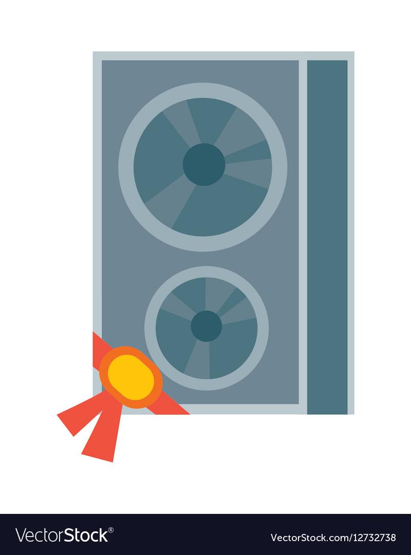 Sound Column in Flat Design vector image