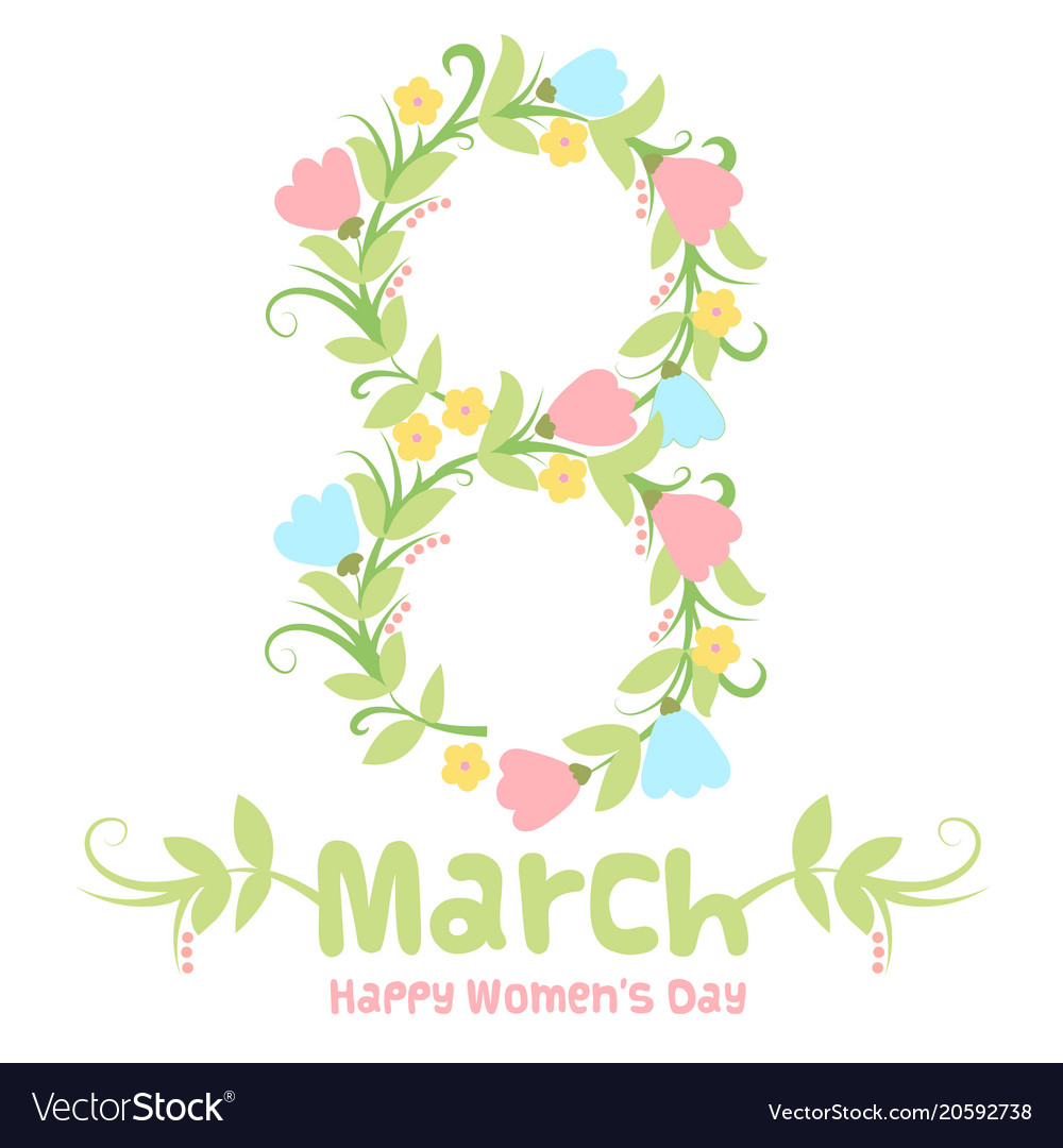 Spring 8 march women day banner vector image