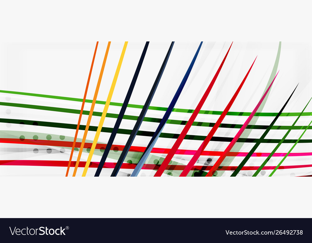 Trendy color stripes lines wave great design for