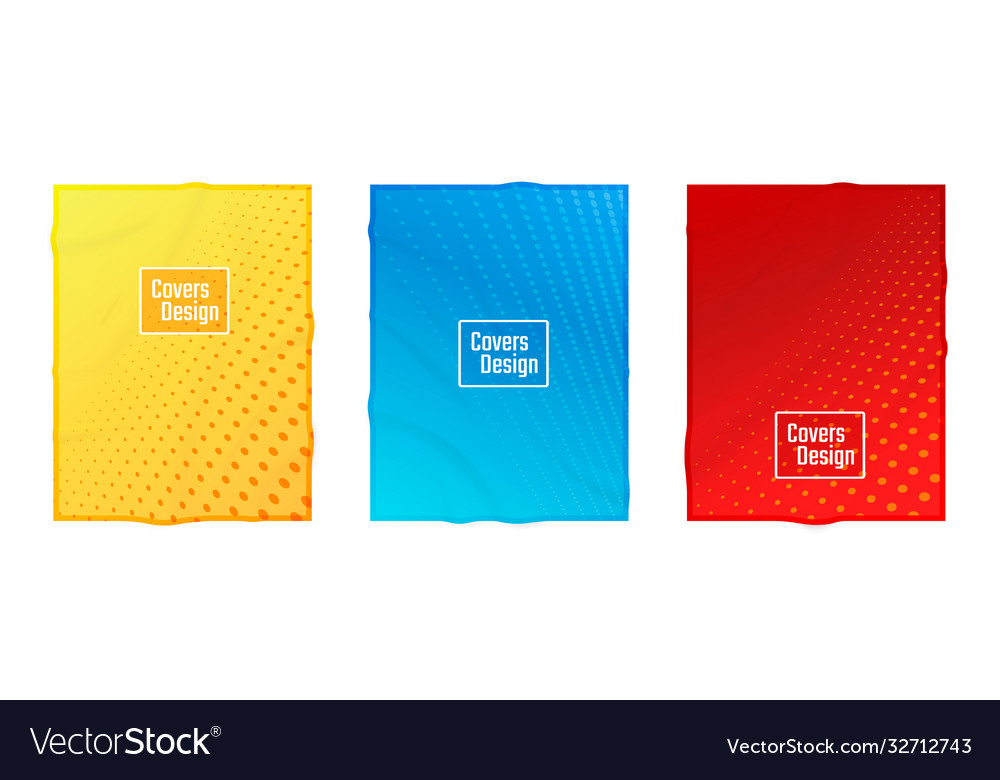 Colorful flat business blank paper cover design