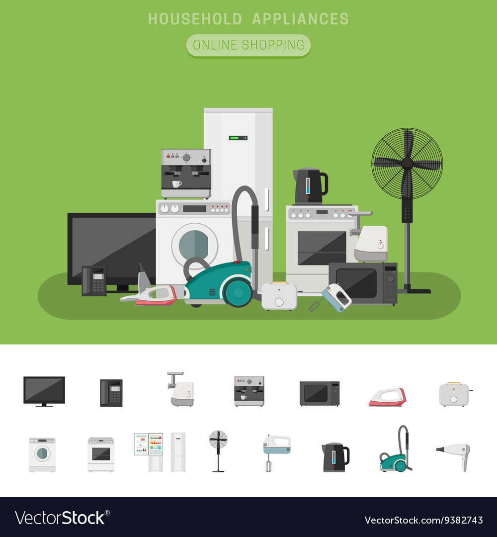 Electronics Flat Banner Royalty Free Vector Image