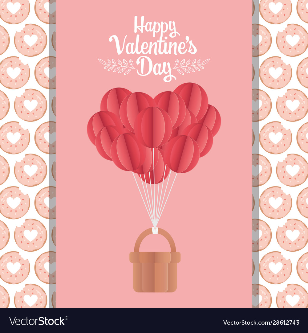 Happy valentines day background paper origami Vector Image | 1080x1000