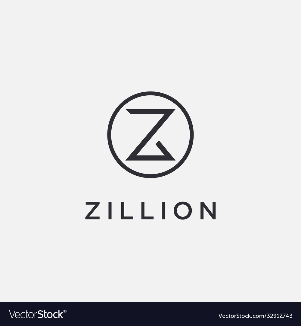 Minimalist letter z logo icon on white background vector