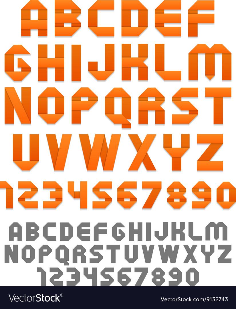 Orange ribbons alphabet
