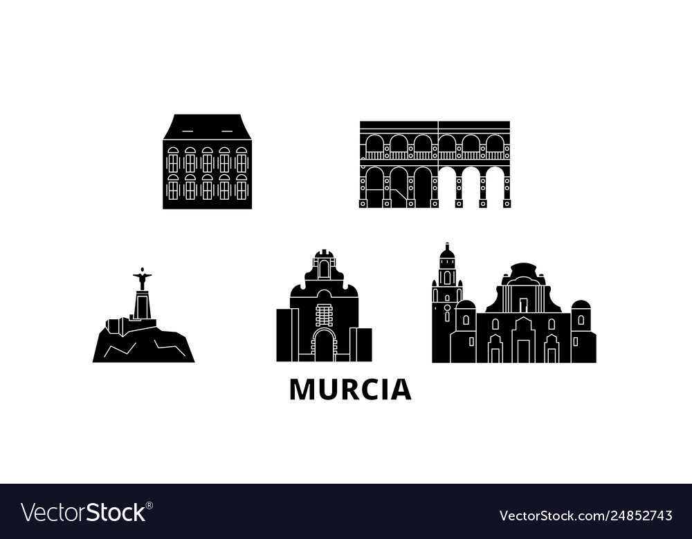 Spain murcia flat travel skyline set spain