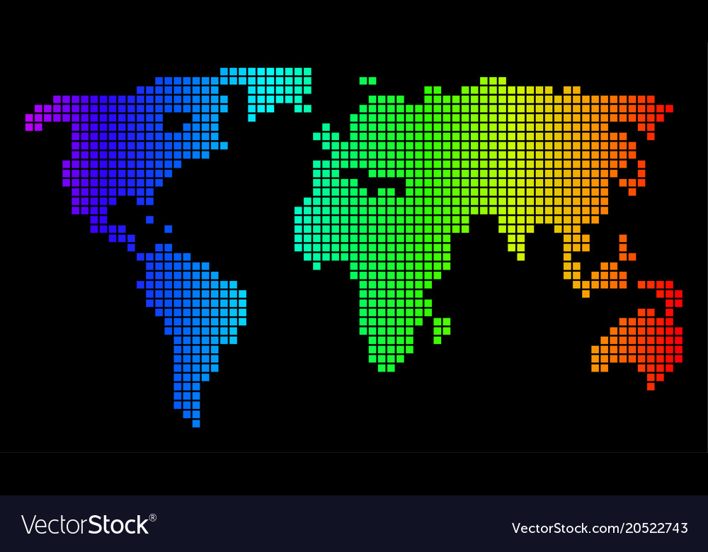 Spectrum pixel dotted world map royalty free vector image spectrum pixel dotted world map vector image gumiabroncs Image collections