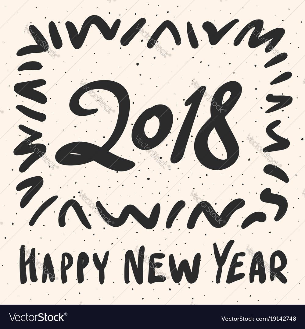 2018 happy new year calligraphy phrase