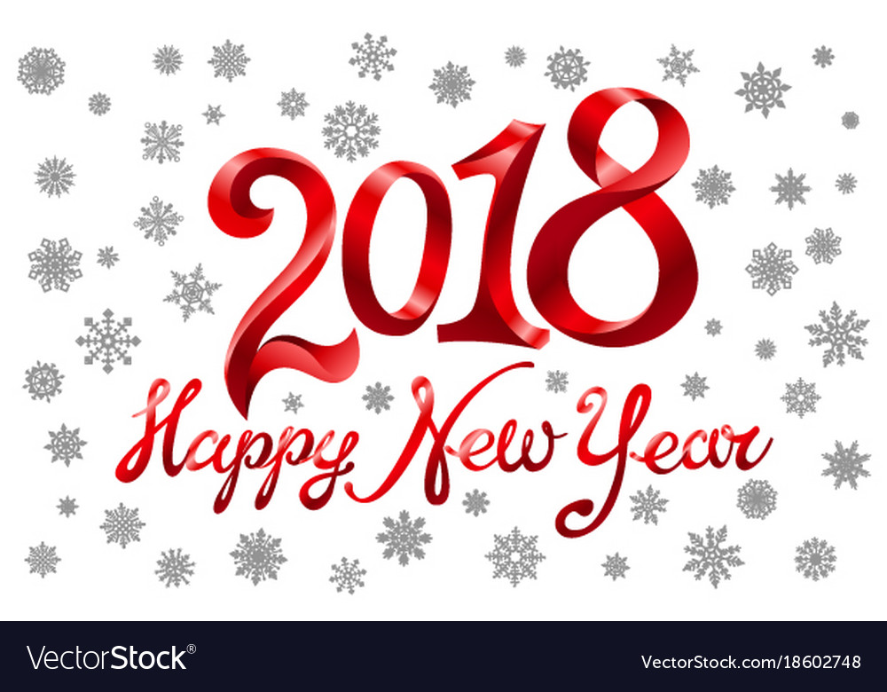 2018 happy new year holiday greeting card on vector image m4hsunfo
