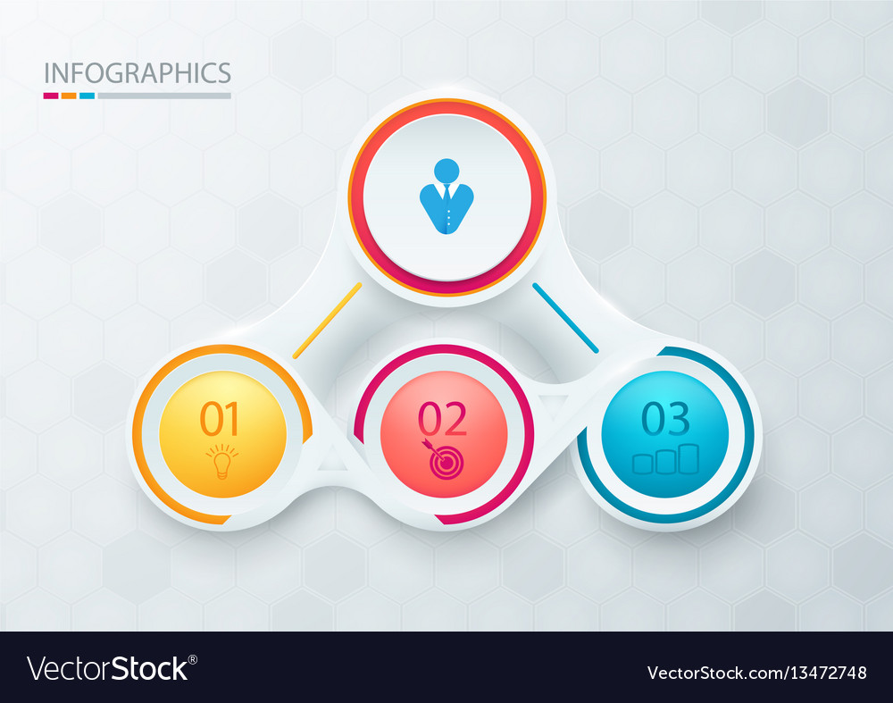 Abstract elements for infographic template