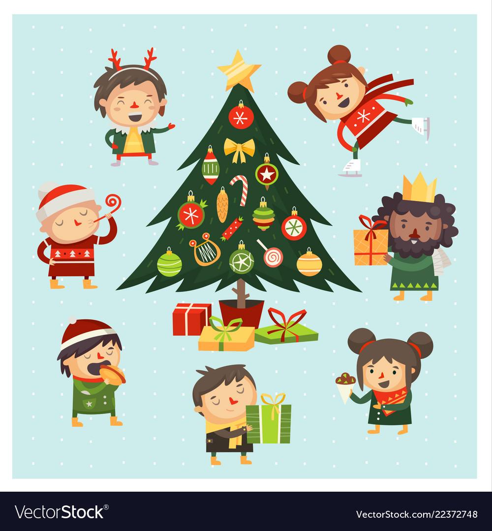 Christmas tree gathering
