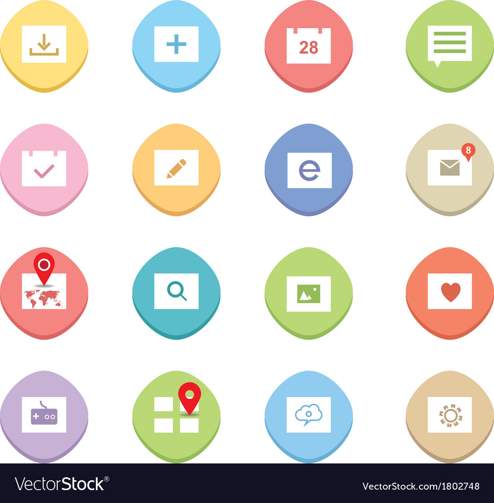 Clean web icons