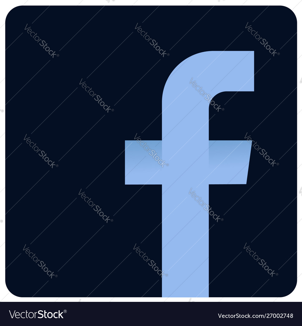 Facebook dark logo icon sign