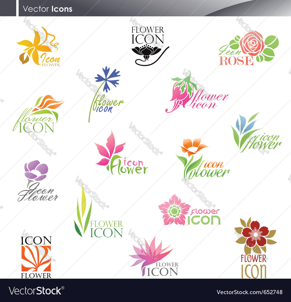 Flowers - logo template set