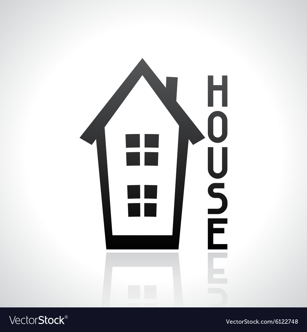 House logo template Real estate design concept