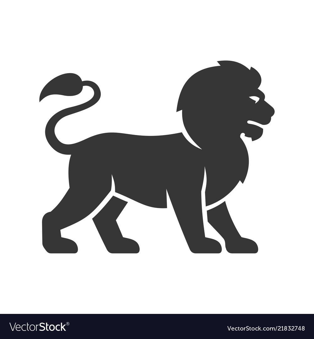 Lion logo icon on white background
