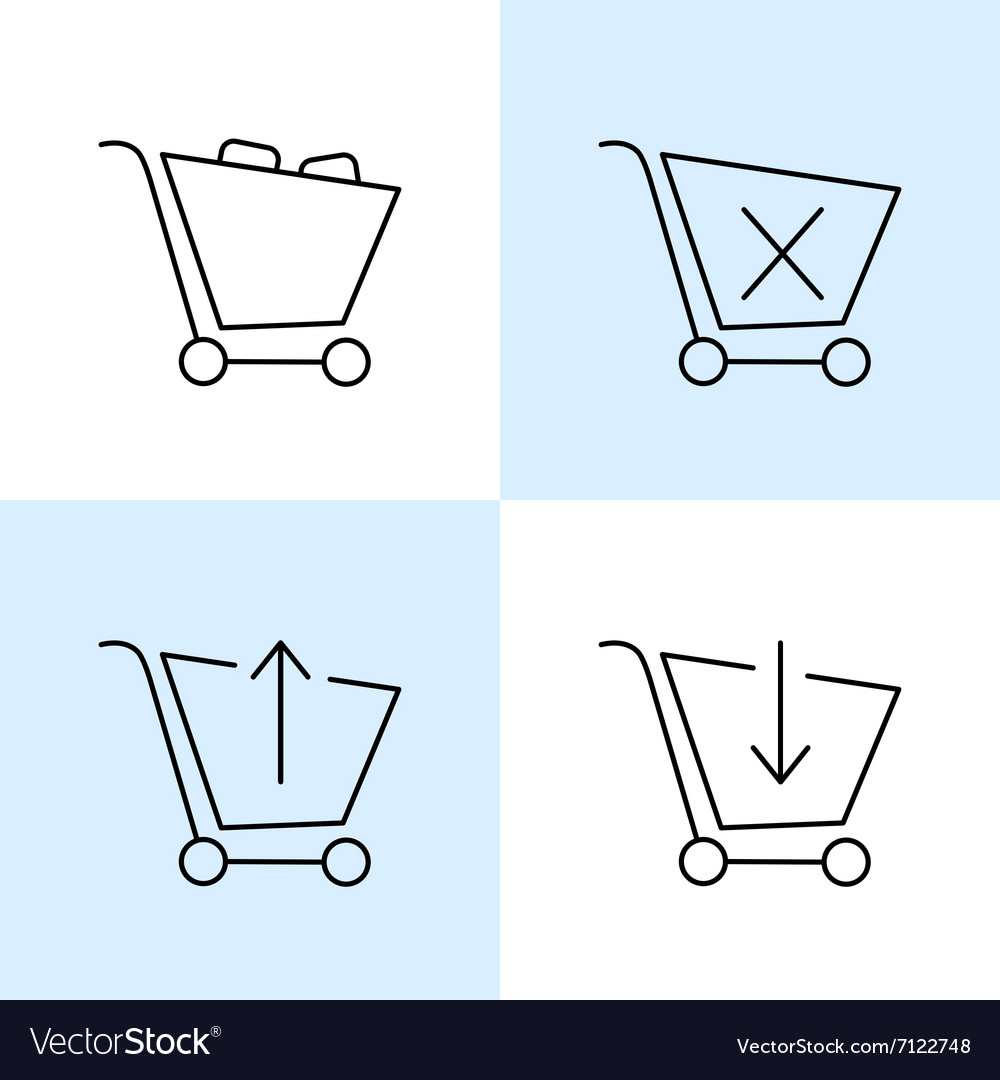 Online shoppin icons