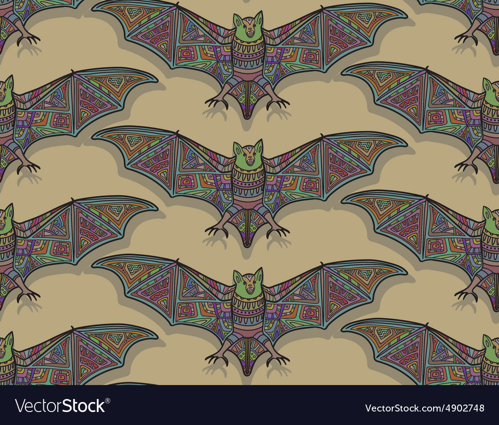 Seamless halloween pattern with bat