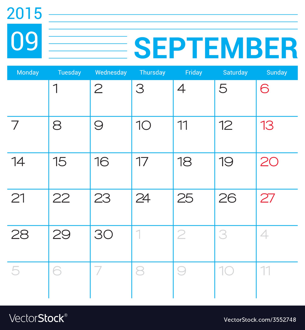 Simple Calendar Template 2015 from cdn4.vectorstock.com