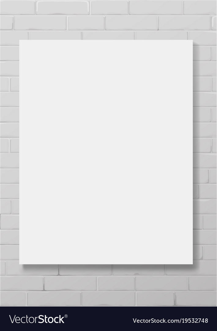 Vertical white empty frame Royalty Free Vector Image
