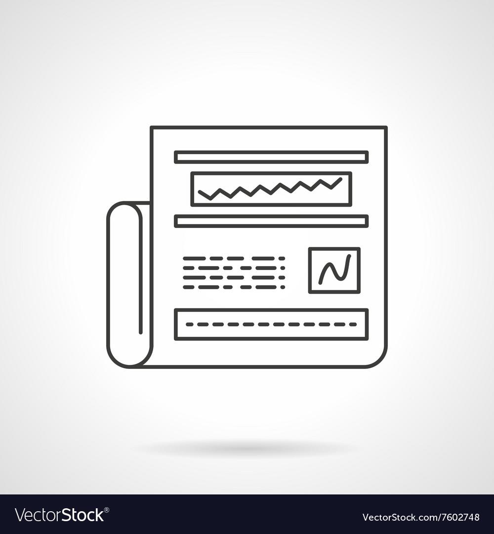 Web analytics icon line design icon
