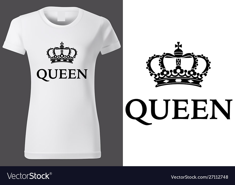 Women white t-shirt with royal crown