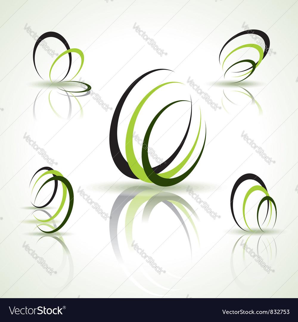 Abstract symbols vector image