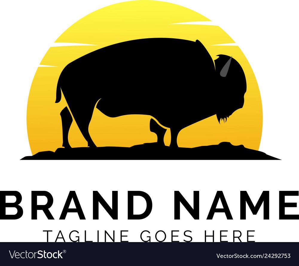 Buffalo logo concept creative minimal design