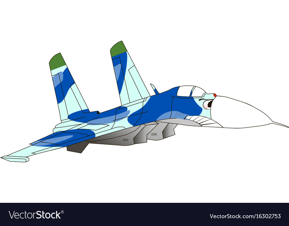 Caricature of an jet fighter