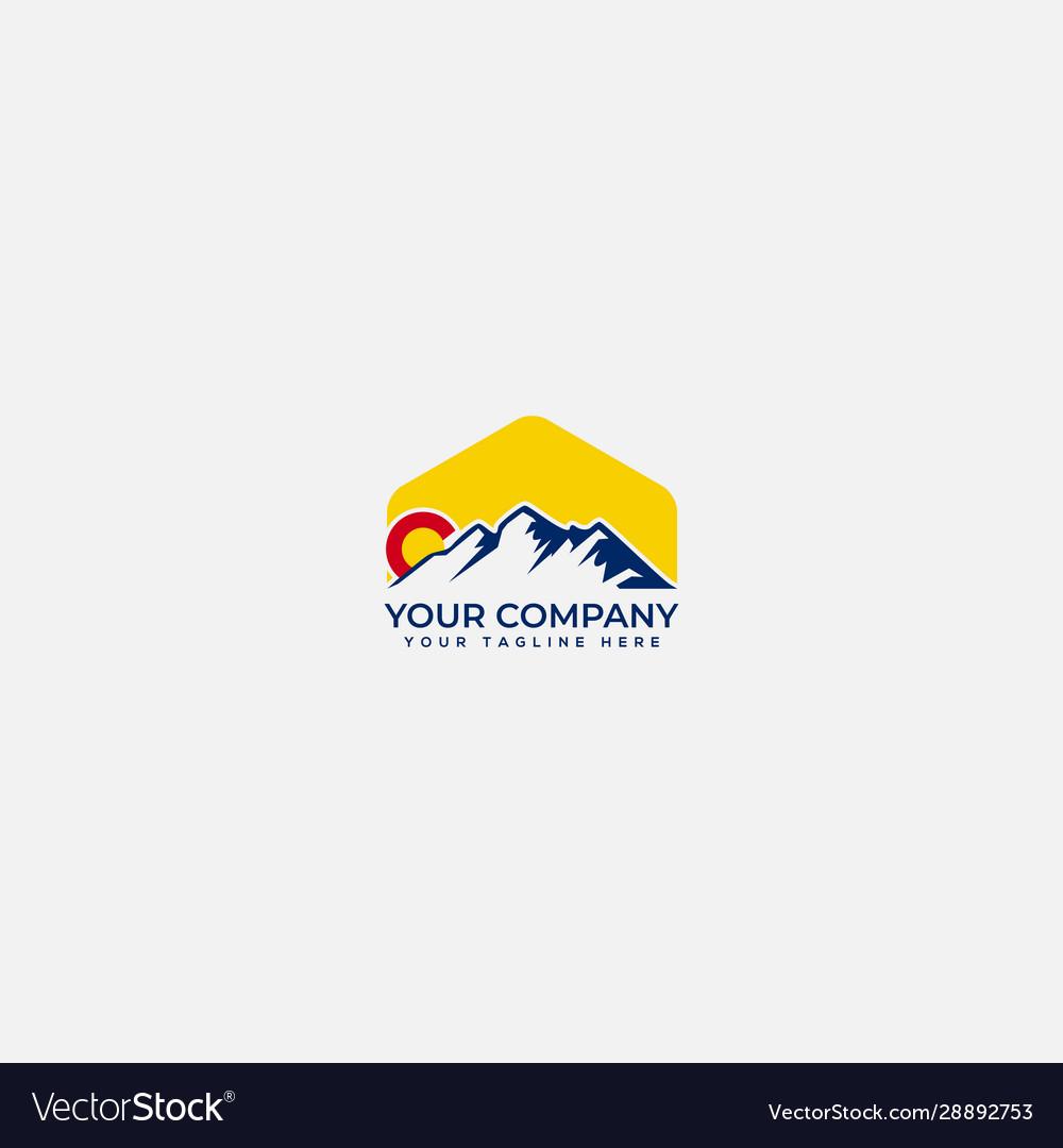 Colorado mountain logo mountain simple logo