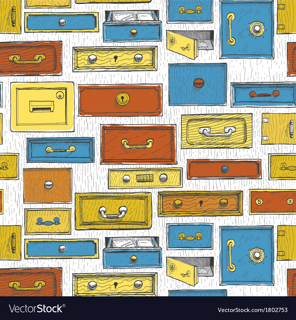 Doodle cartoon color drawers pattern