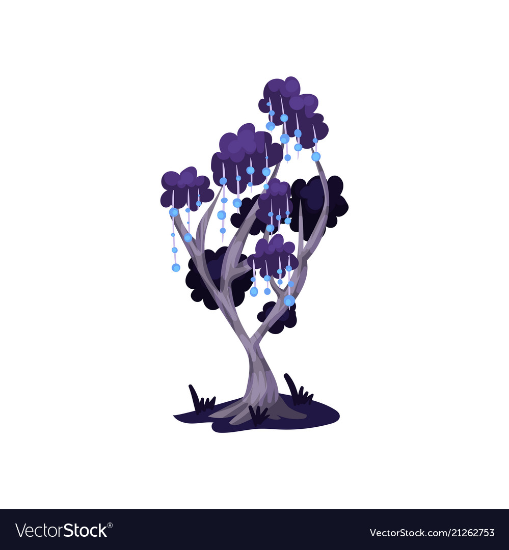 Fairytale tree in blue colors fantasy nature
