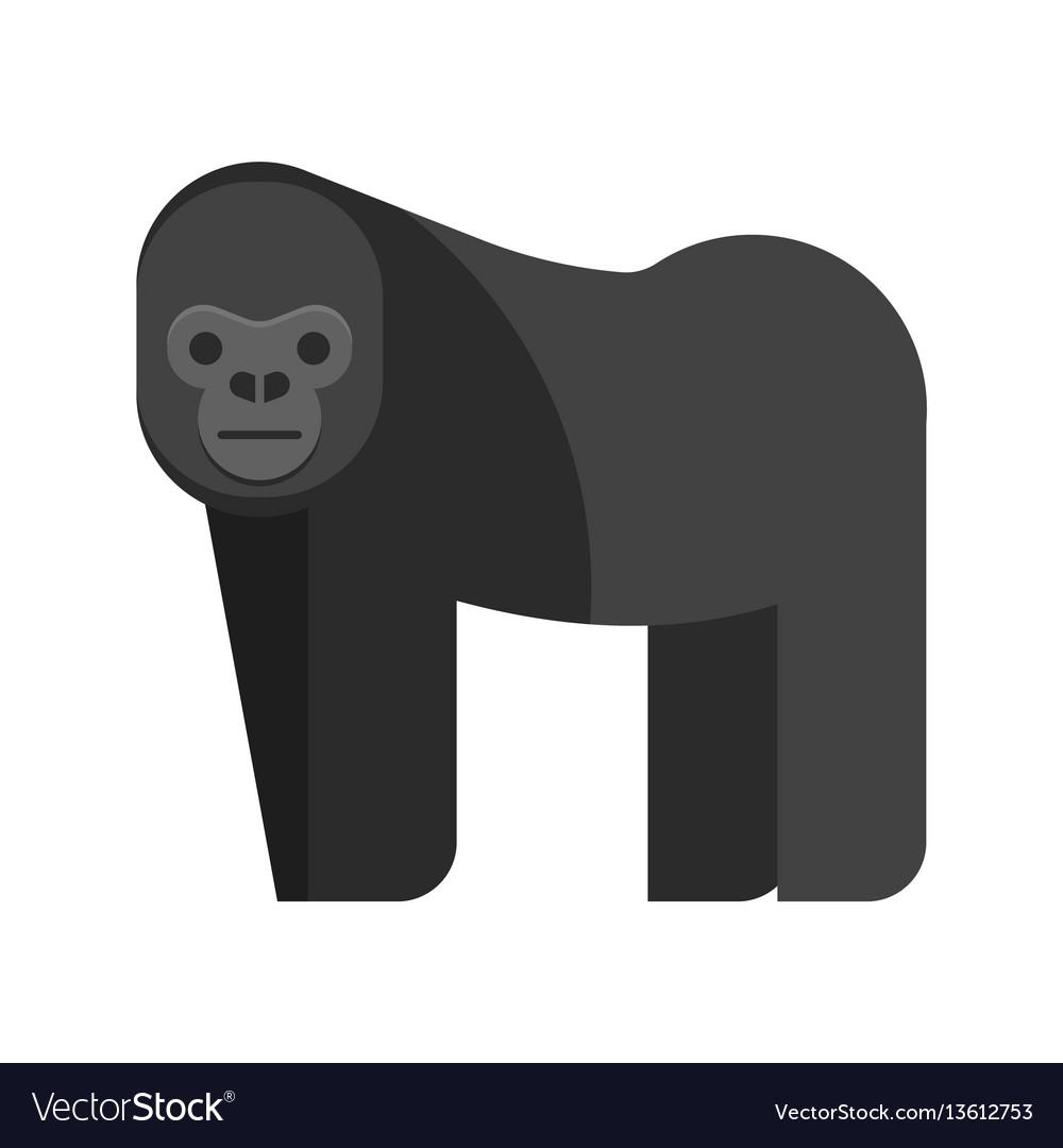 Flat style of gorilla