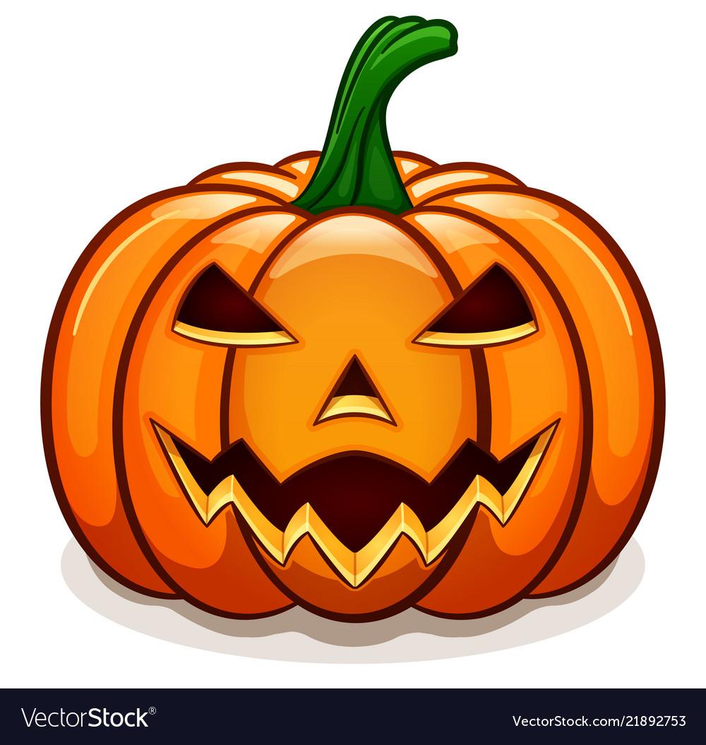 Orange halloween pumpkin design