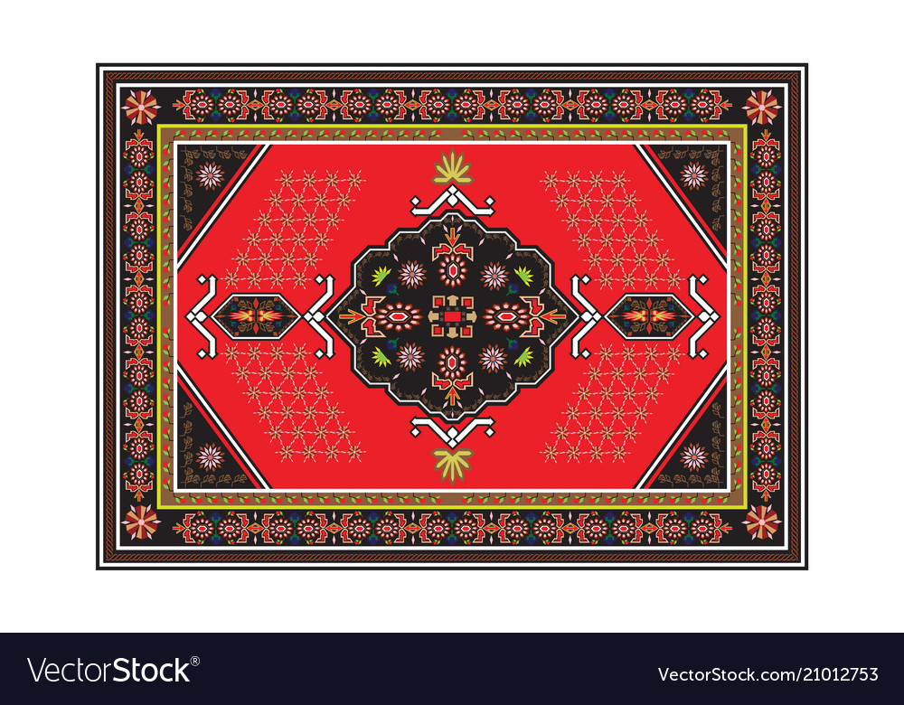 Persian carpet with tribal geometrical ornamental