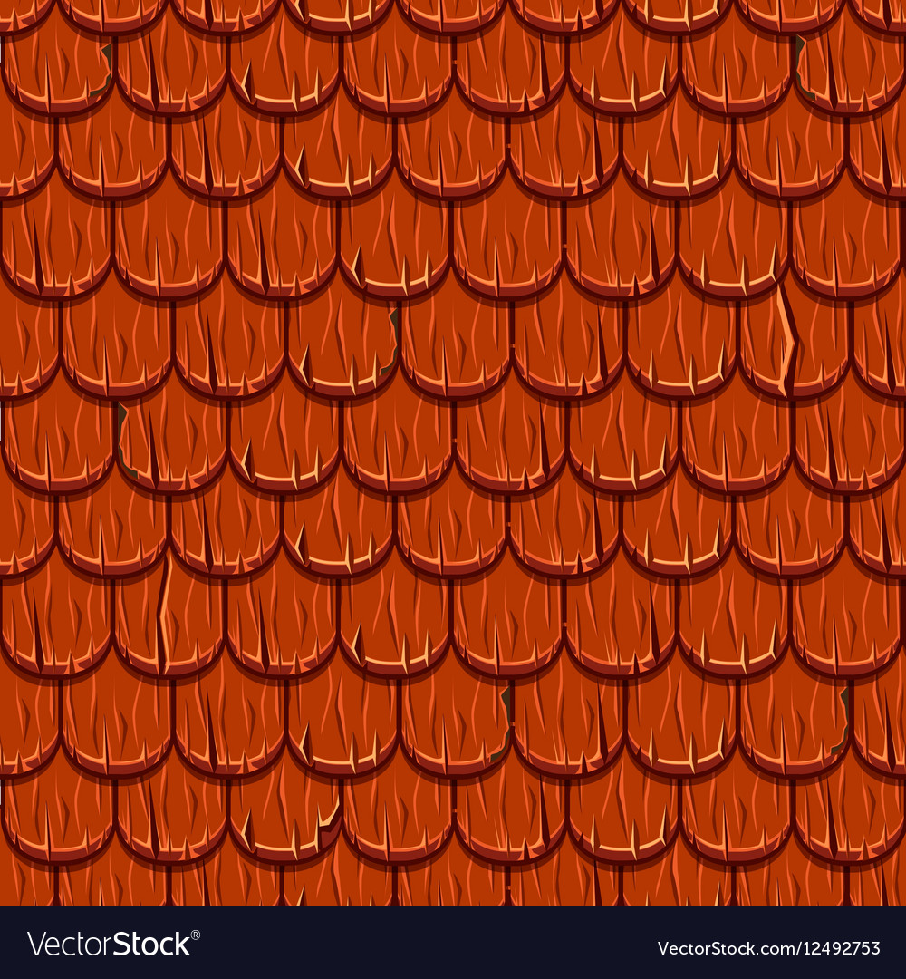 Red wooden old roofing Roof Tiles Seamless