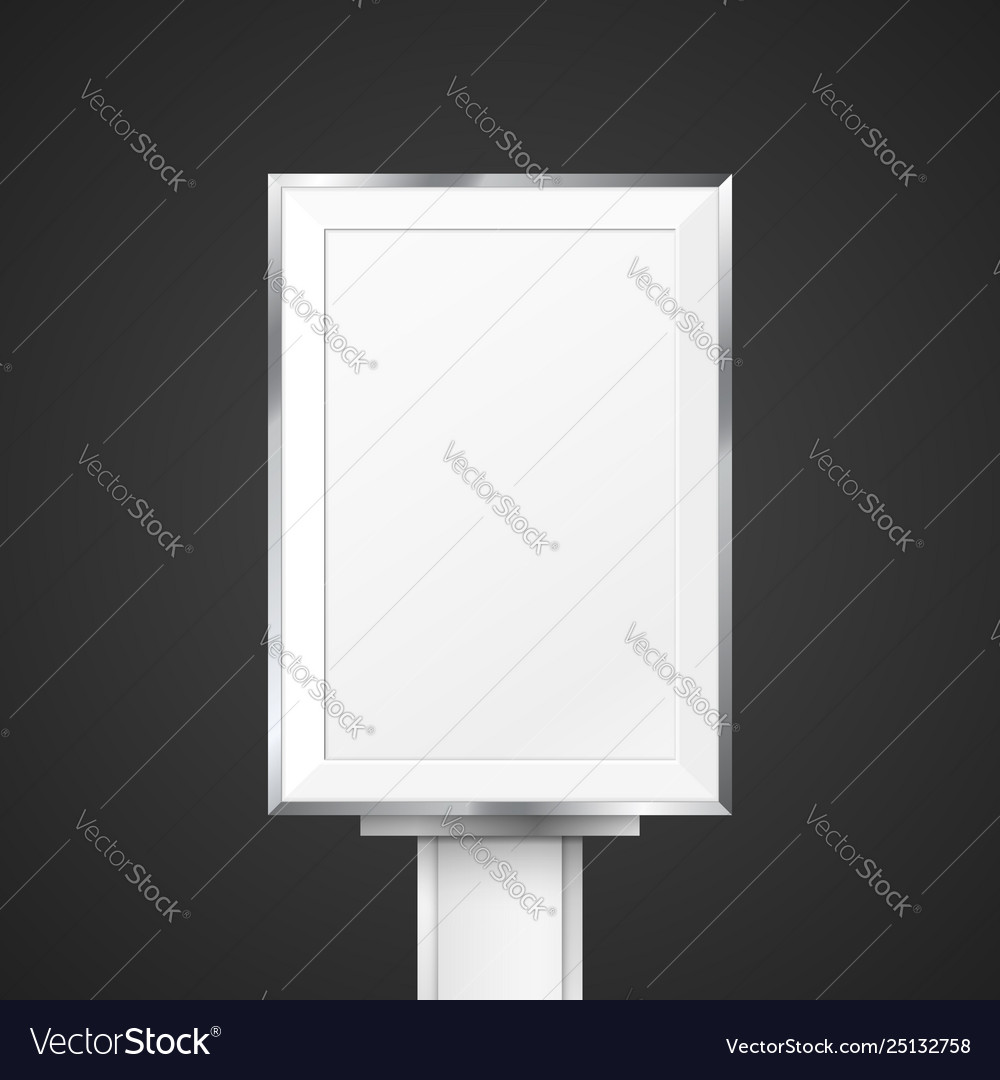 Blank light box mockup