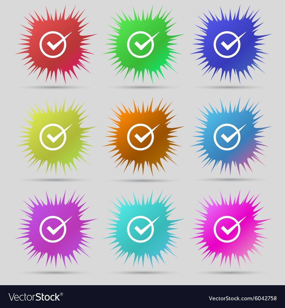 Check mark sign icon Checkbox button Nine original