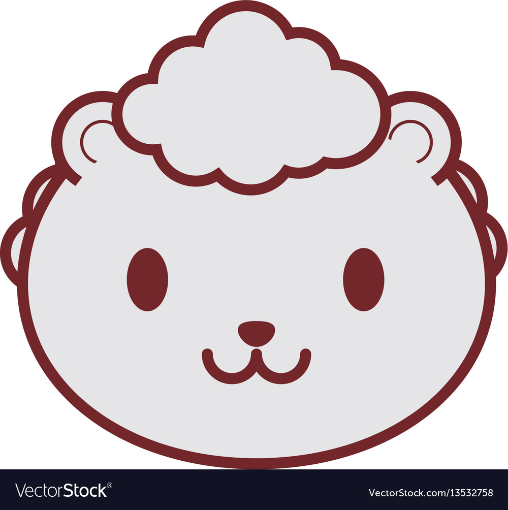 Cute sheep face image