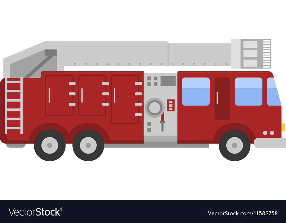 Detailed of fire truck