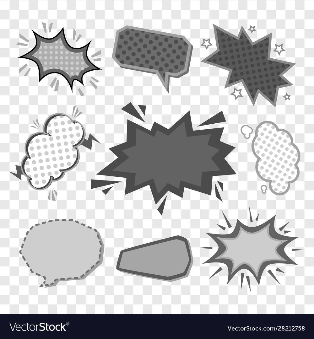 Retro comic book speech bubbles cartoon