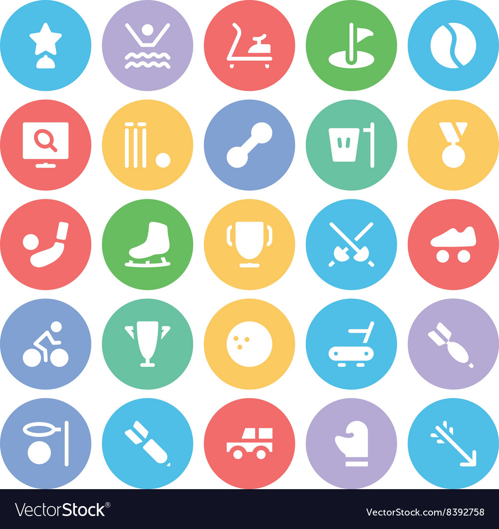 Sports Colored Icons 9