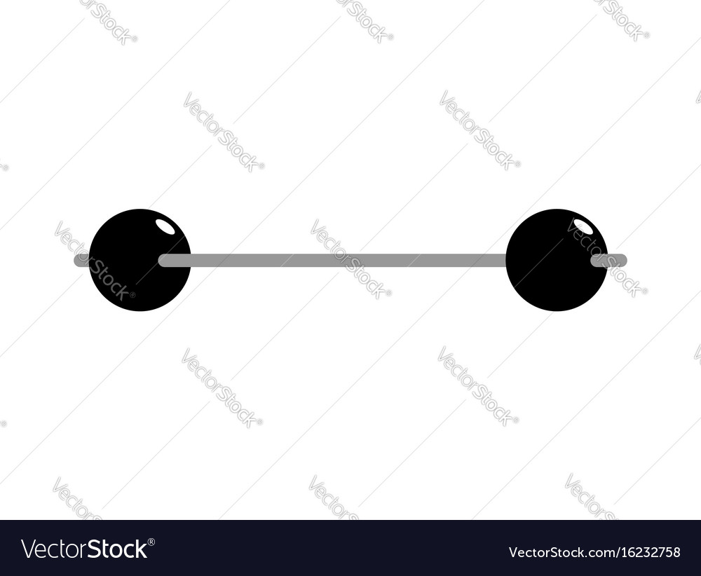 Vintage barbell isolated retro sports equipment vector image