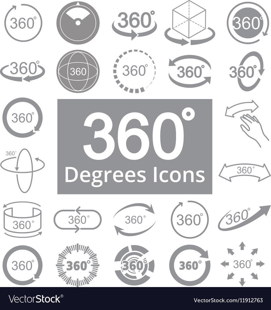 360 Degree View Related Icons