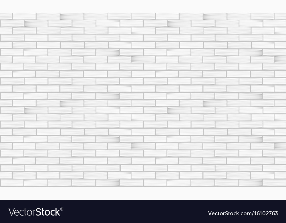 Brick wall white texture seamless pattern