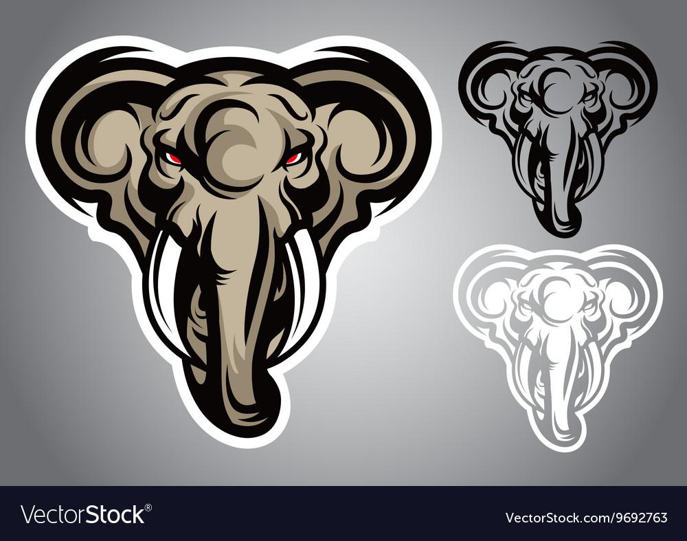 Elephant head emblem logo