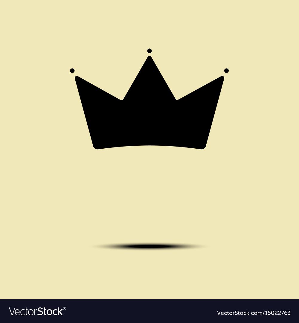 Geometric vintage crown logo minimalism design