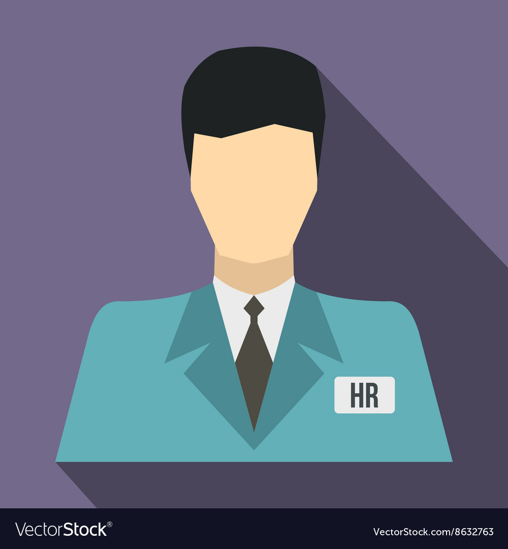 HR manager icon flat style